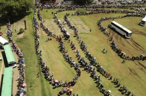 Arial Photo: Millions of Residents Waiting To See Jindal Flailing Around In Human Excrement