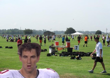 Eli Manning also showed up to the camp and showed young superstars how to safely prepare microwavable pizza while loaded on pain killers and Bud Lite.