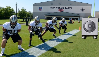 saints practice boos