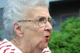 angry old woman